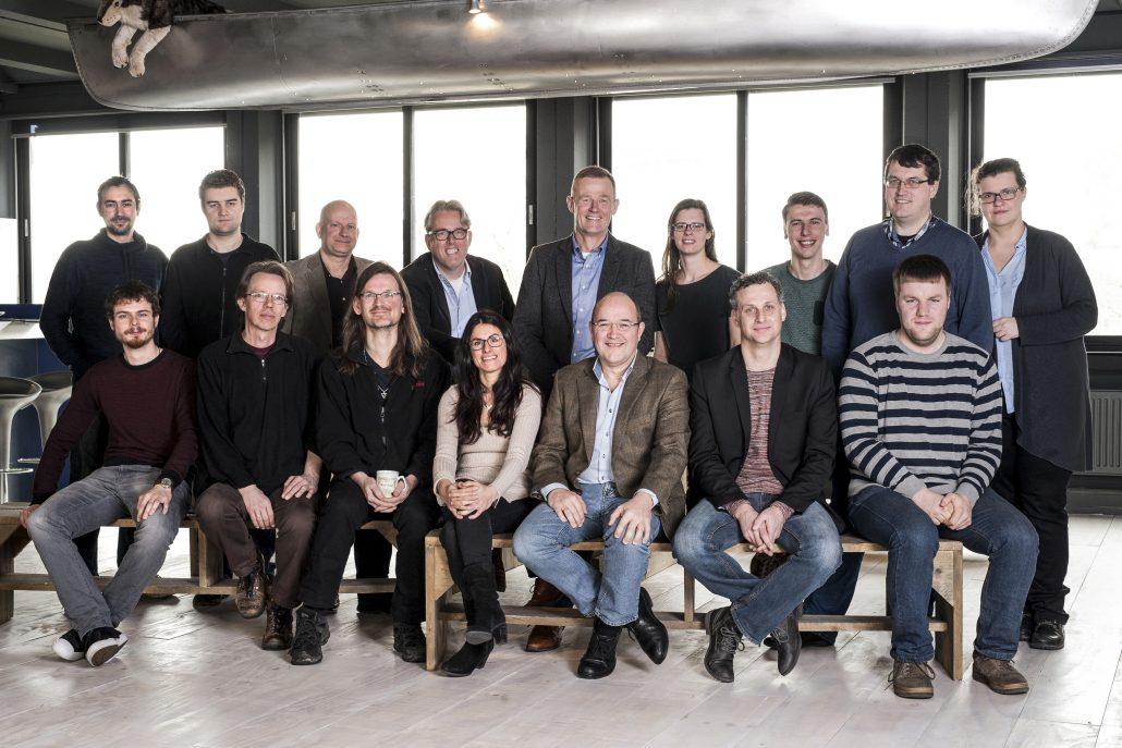 Dordrecht 07-03-2017. Groepsfoto van de medewerkers van Parlaeus. Foto Joost Hoving